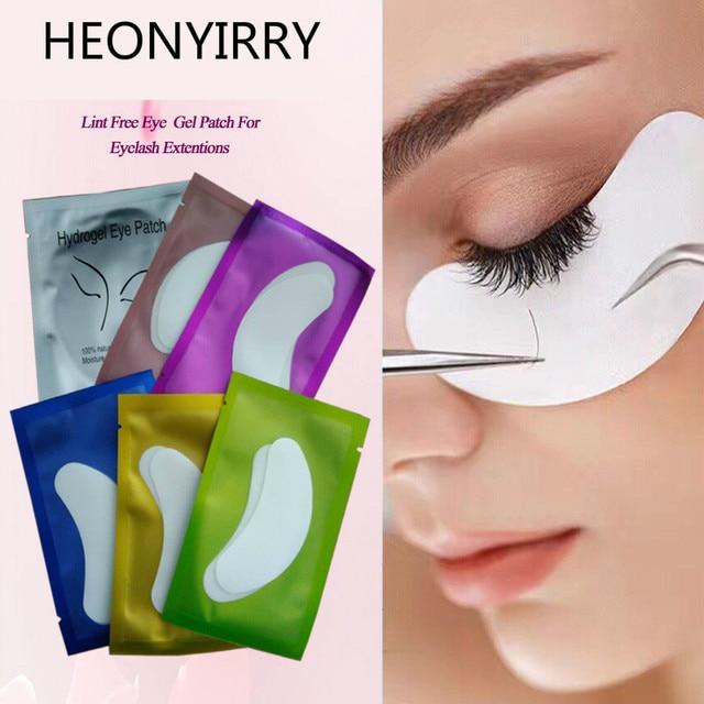 100pairs Disposable Eye Pads Lash Paper Patches Moisture Eyelash