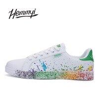 Hemmyi Women Shoes Unisex Brand Tenis Feminino Sapato Casual Shoes Basket Femme Lady S Footwear Inkjet