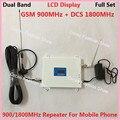 ЖК-Дисплей! GSM 900 DCS 1800 МГц МГц Мобильный Телефон Усилитель Сигнала 2 Г 4 Г Dual Band Сотовый Сигнал Повторителя Усилитель с Антенной
