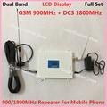 Pantalla LCD! GSM 900 Mhz DCS 1800 MHz Teléfono Celular Amplificador de Señal 2G 4G de Doble Banda Celular Repetidor de Señal Del Amplificador con la Antena