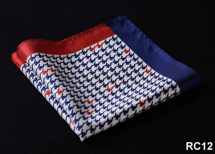 RC12 HN24B Blue Red Houndstooth 34cm