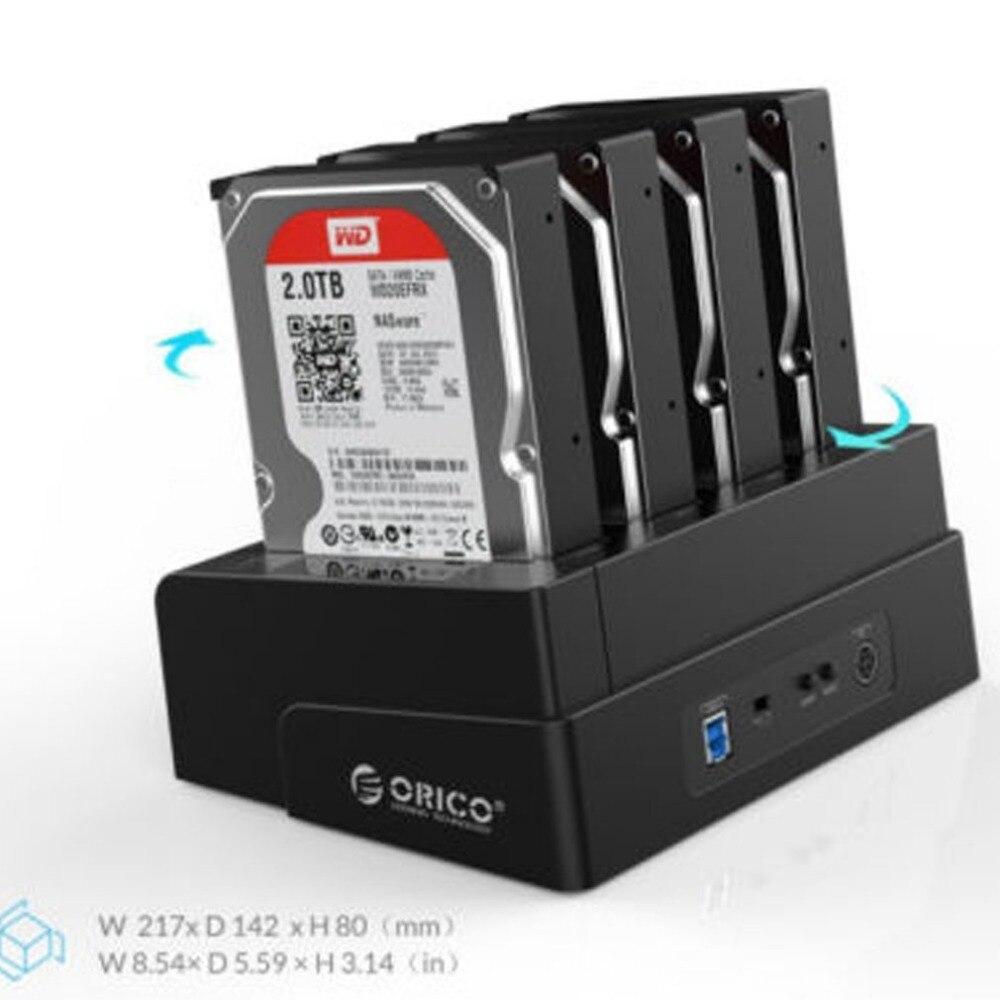 ORICO 6648US3-C 4 Bay hdd docking station USB 3.0 di Trasporto Libero Strumento Off-line Duplicatore per il 2.5/3.5 pollice HDD SSD Caso