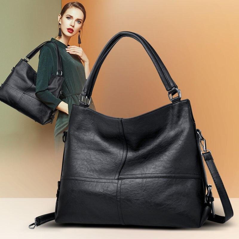 Sacs pour femmes 2018 souple en cuir véritable bolsa feminina célèbre marques sac à main 2 bretelles sac à main épaule sac shopper dames fourre-tout