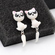 CXW Free shipping Animal earrings for women classic fashion big eye cat animal accessories cute ear studs K02