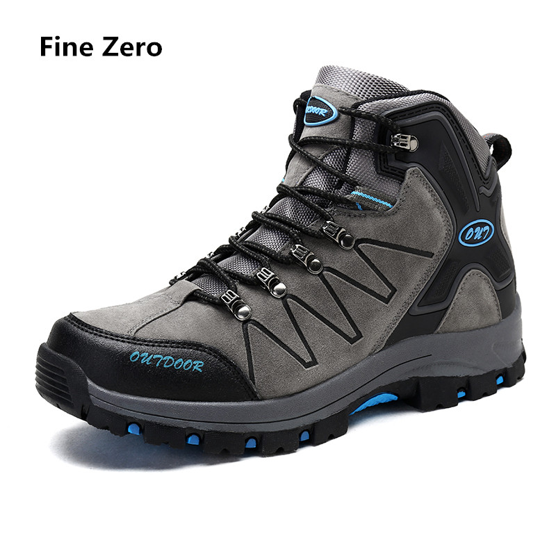 2018 Outdoor Sports Hiking Shoes Men Autumn Winter Hiking Boots Mountain Sneakers Men High Top green botas