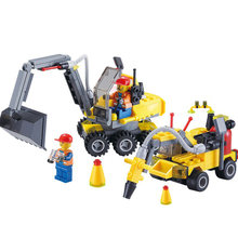 LXHZS City Construction Excavator Building Block sets playmobil Compatible With City Toys Brinquedos Educational Bricks Gift(China)