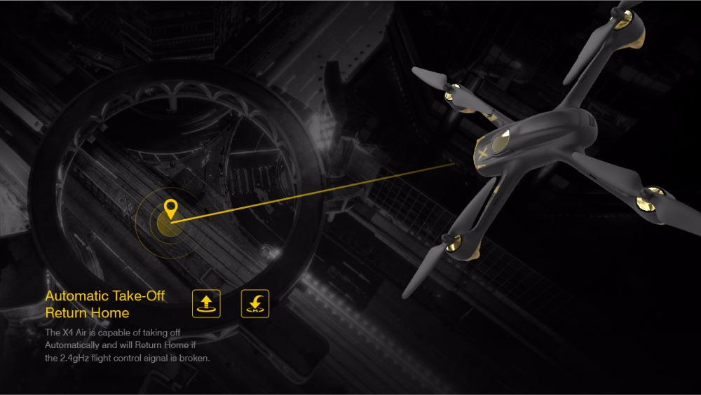 Hubsan H501A X4 WIFI Brushless FPV RC Quadcopter Drone with 1080P HD Camera GPS Waypoint RTF Headless Mode