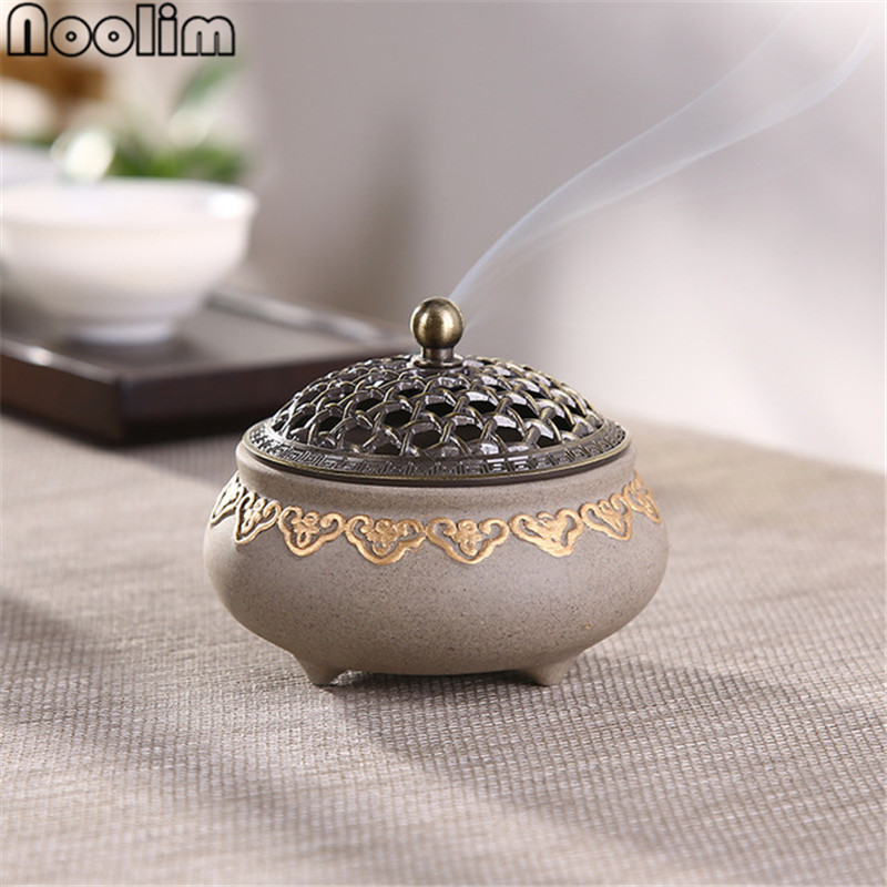 Ceramic Mosquito Repellent Incense Burner Classical Living Room Decor Porcelain Coil Incense Holder