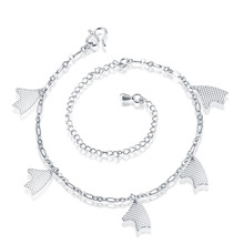 JEXXI Free Shipping Best Selling Silver/Golden Pretty Dog Pendants Design Anklet Foot Chain Jewelry Ankle Bracelet