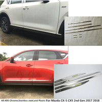 Hot Sale Car Side Door Trim Strip Molding Stream Lamp Panel Bumper Hoods Moulding 4 6pcs