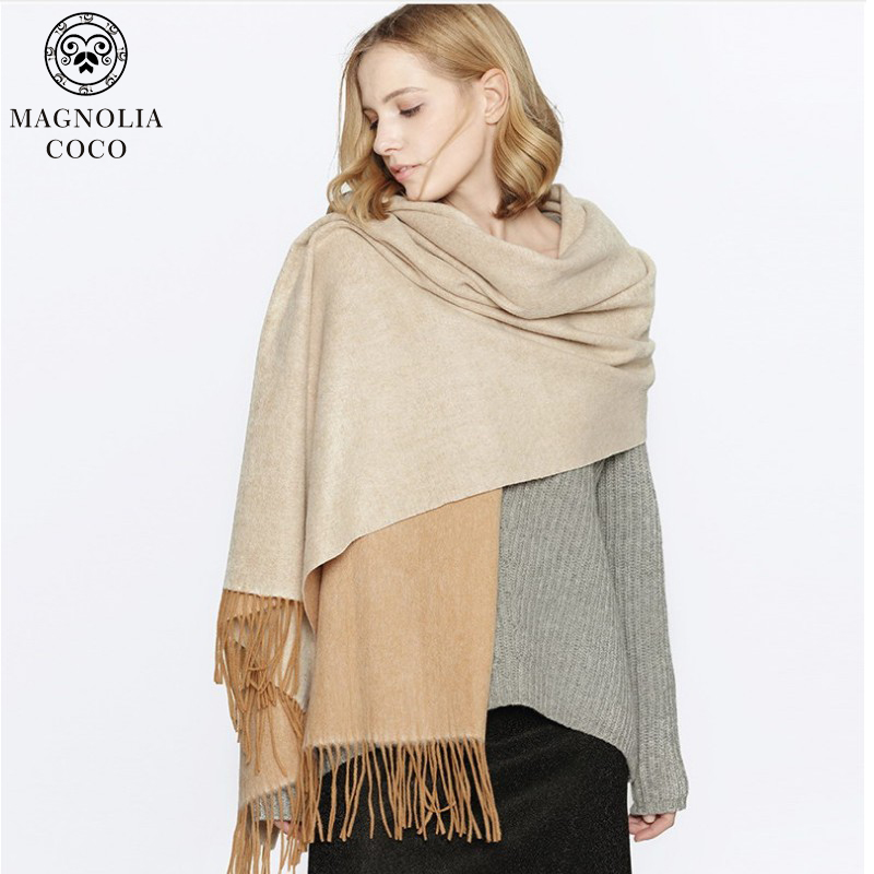 4a81a5884 Hot sale Scarf Pashmina Cashmere Scarf Wrap Shawl Winter Scarf Women's  Scarves Tassel Long Blanket Cachecol