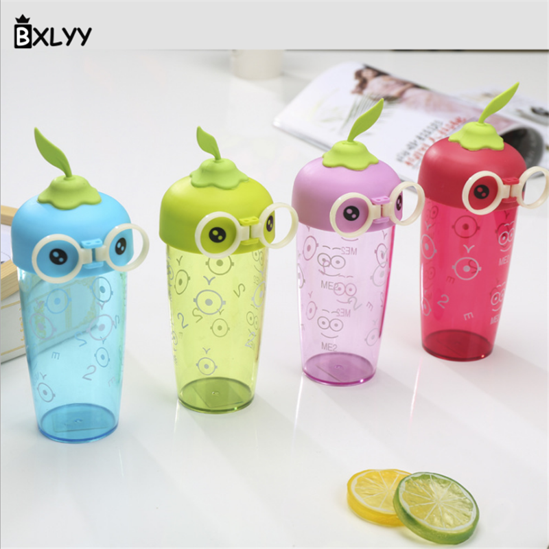 BXLYY1pc Creative Fashion Gift bottle Cute Eyes Plastic Water bott Kettle Gift Cute Travel Boarding Portable Green Blue Pink .5z