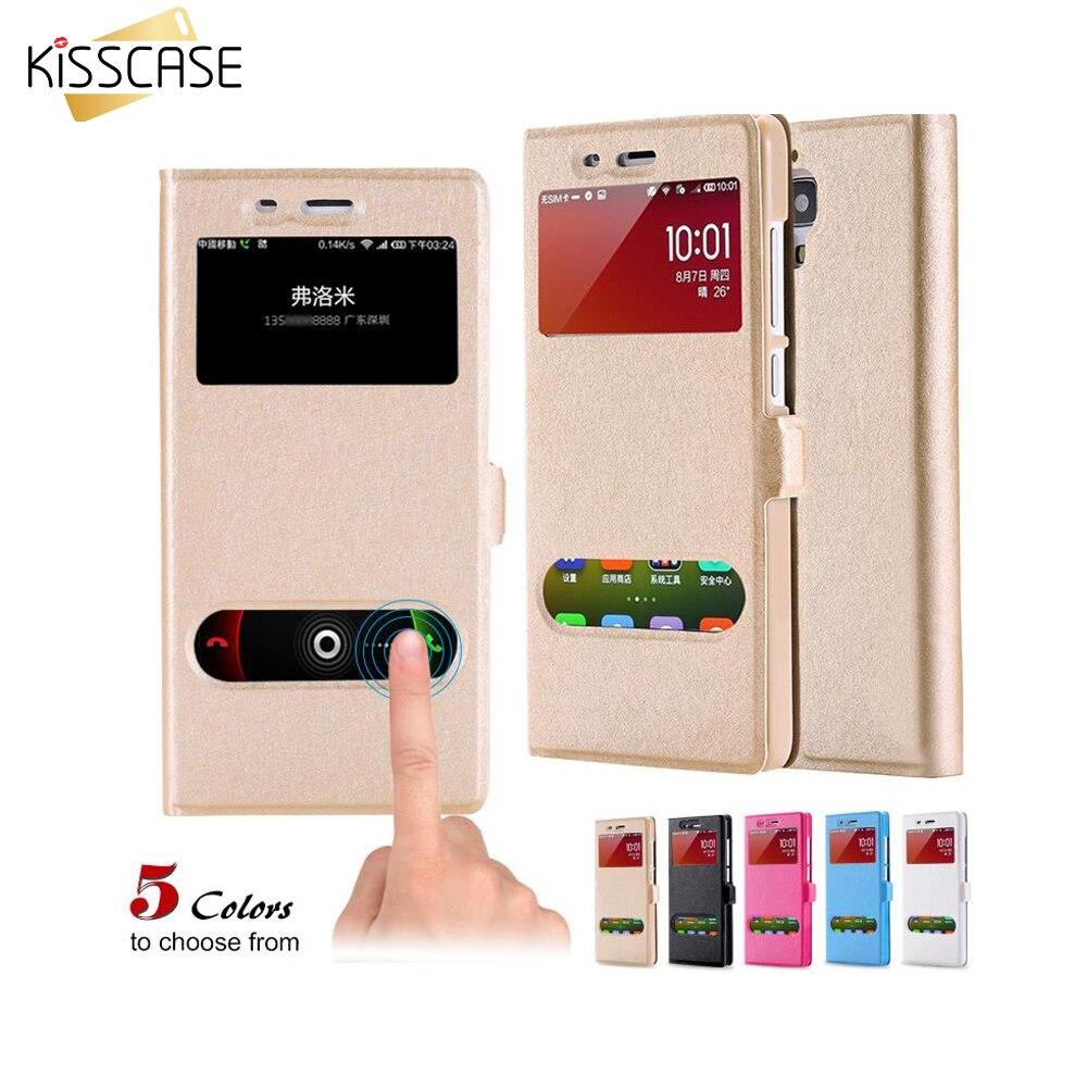Kisscase mi 4 casos seda soporte accesorios del teléfono para xiaomi mi 4 m 4 cu
