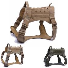Waterproof Military Dog Vest Tactical Harness Jacket Nylon Molle Service Training Combat Hunting Clothes
