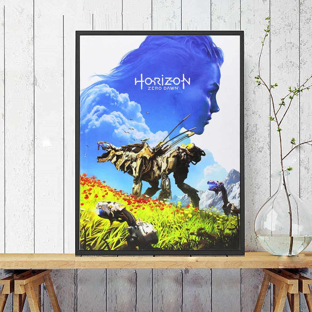haohaizi Horizon Zero Dawn P/óster decorativo lienzo de pared para sala de estar de 20 x 30 cm