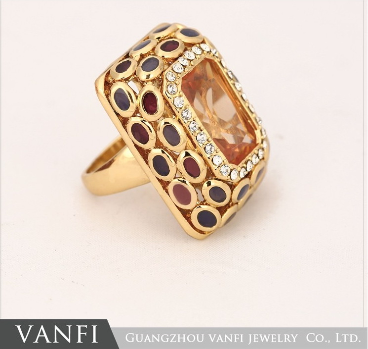 New Beautiful Ring Rectangle Zircon Cutting Ring Rose Gold/silver ...