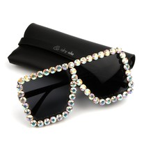 4bc7e310756 9 design luxury Sunglasses Women Square Vintage sunglasses Bling Rhinestone  Sun glasses for Woman Oversize Fashion Shades femal