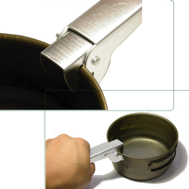 Image 3 - Camping Pot Pan Gripper Handle Bowl Gripper Outdoor Picnic Cookware Tableware for Tourism Anti hot Pot Pan Gripper Holder-in Outdoor Tablewares from Sports & Entertainment