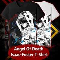 Аниме JK Angels of Death игра косплей рубашка ZACK Isaac Foster футболка Топы Футболка женская мужская повседневная футболка с коротким рукавом