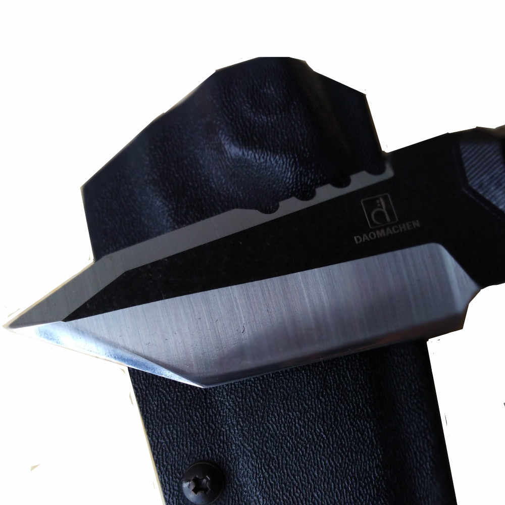 DAOMACHEN フル唐屋外の戦術的なナイフサバイバルキャンプツールコレクション狩猟ナイフインポートされた K シース送料無料