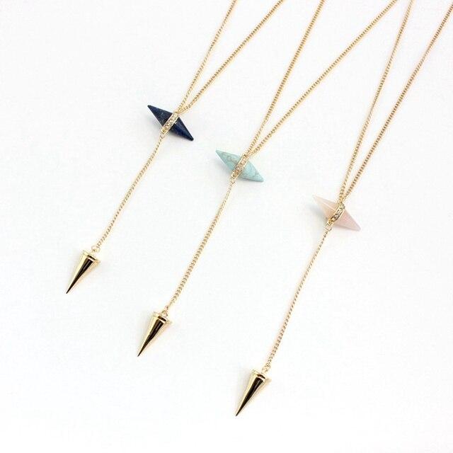 Фото ожерелье chicvie для женщин длинные конические ожерелья и подвески цена