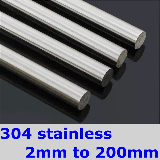 SS304 Stainless Steel Round Bar OD 5mm Length 500mm DIY Hardware Round Rods