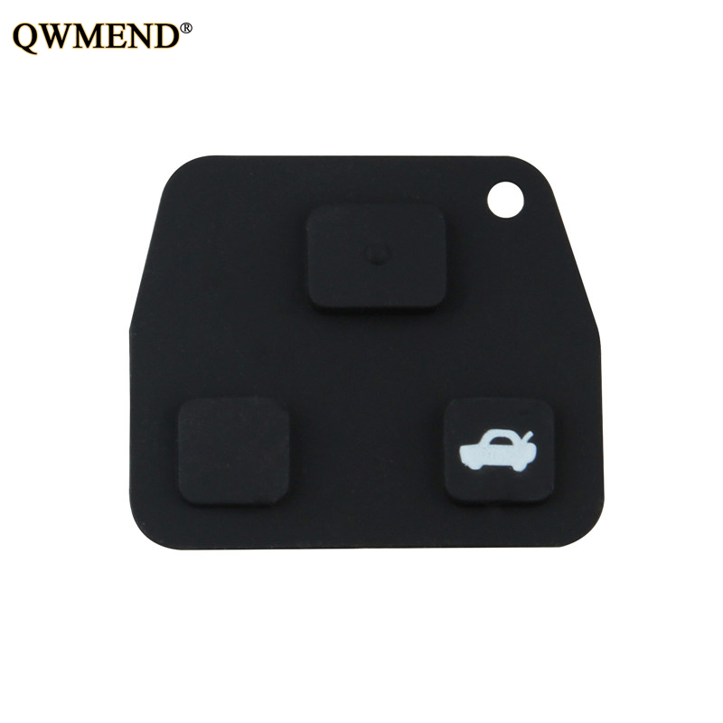Automobiles & Motorcycles Car Key Honey Qwmend 10pcs/lot 2 3 Buttons Car Remote Key Black For Toyota Avensis Corolla Lexus Tarago Avensis Avalon Rubber To Be Highly Praised And Appreciated By The Consuming Public