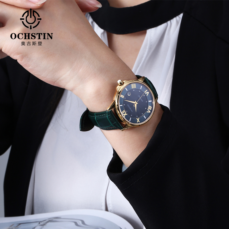 Image 5 - OCHSTIN New Fashion Women Watches Luxury Diamond Leather Calendar Waterproof Quartz Watch Relojes Mujer 2019 Marca De Lujo Clock-in Women's Watches from Watches