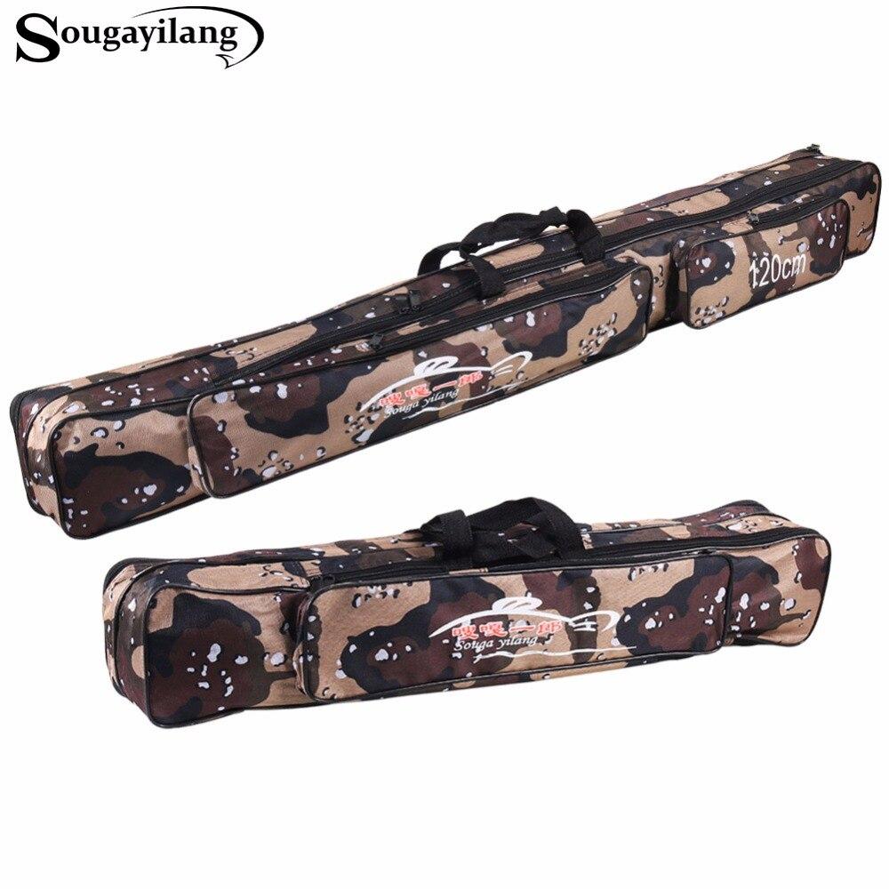 Sougayilang 80/120cm Portable Fishing Rod Bag Fishing Large Capacity Multi-Purpose Outdoor Bag Waterproof <font><b>Carp</b></font> Fishing Rod Bag