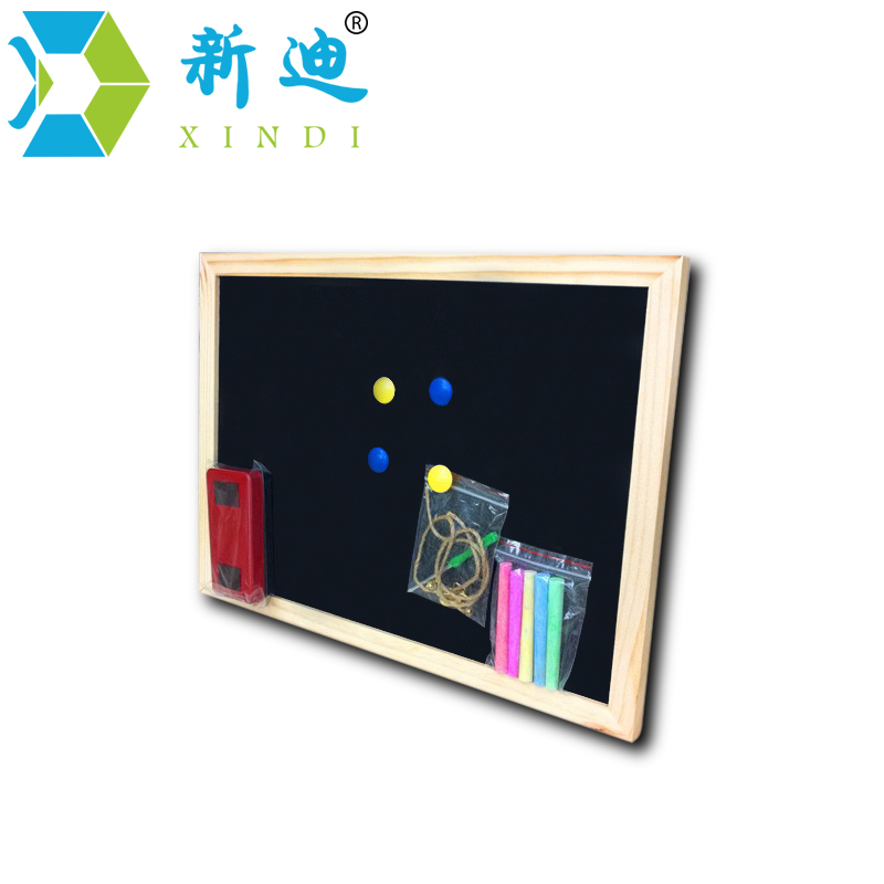 Free shipping 2017 Wholesale and retail Wood Frame Chalkboard Dry Erase Magnetic Black Board Office Supplier 25*35cm