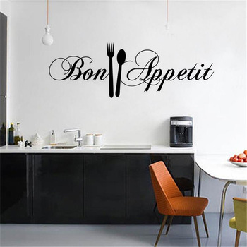 DIY Knife And Fork Removable Wall Decal-Free Shipping For Kitchen
