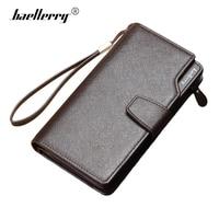 Baellerry Luxury Business Men Wallets Hasp Zipper Long Male Purse Leather Man Clutch Bag Phone Card