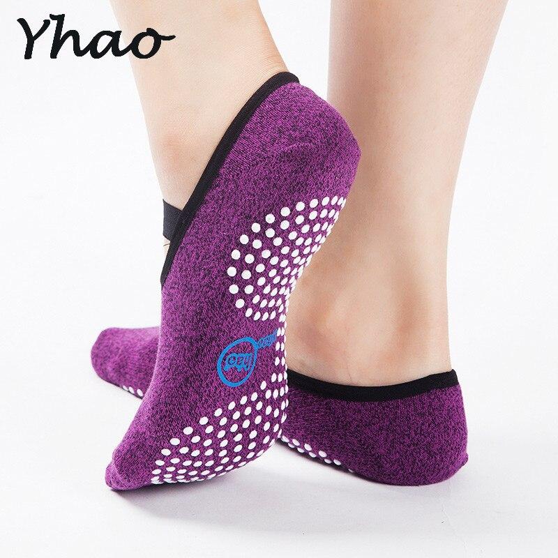Las mujeres de alta calidad vendaje calcetines de yoga antideslizante de secado rápido de amortiguación Pilates Ballet Calcetines Good Grip para hombres y mujeres calcetines de algodón
