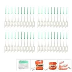 40Pcs Erwachsene Interdentalbürsten Sauber Zwischen Zähne Zahnseide Pinsel Zahnstocher Zahnbürste Dental Mundpflege Werkzeug Zahnseide