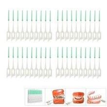 Для выведения токсинов, 40 шт взрослых для ухода за межзубным пространством кисточкам быть чистыми между зубов нить щетки Зубная щетка зубоч...