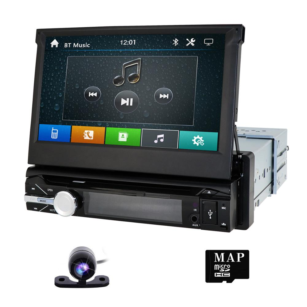 Free camera 1 din radio Car dvd player Navigator tape recorder auto radio car radio GPS multimedia Dab+ 8G Map card Mirror link image