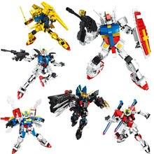 купить super robot war zeta gundam seed destiny building block Amuro Ray figures God RX-78-2 Strike IMPULSE bricks toys collection по цене 1162.89 рублей