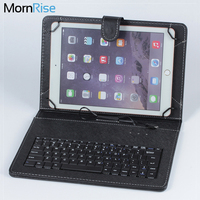 Micro USB Keyboard For Tablet 9 7 PU Leather Stand Case Computer Keyboard For Samsung Galaxy