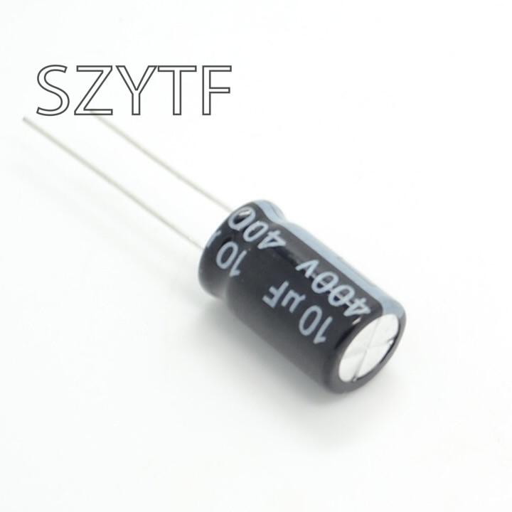 10pcs bag 10 16mm 400V 10UF electrolytic capacitor