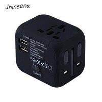Vendita calda Adattatore Universale di Corsa Prese Elettriche Sockets Converter US/AU/UK/EU con Dual USB di Ricarica Indicatore LED di Alimentazione