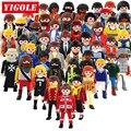 Один продажа Оригинальные Playmobil 7 см Фигурки Summer Fun City Life Полиции Принцесса Пират детей Игрушки Подарок