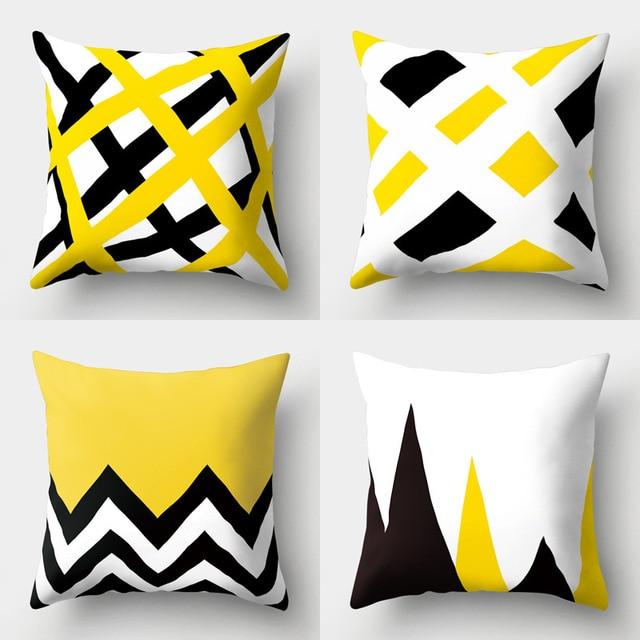 2018 nuovo giallo tema cuscino copre morbido cuscino in poliestere della copertu