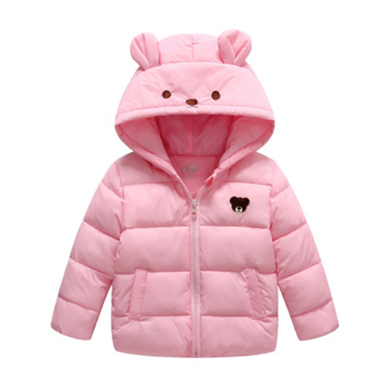 AOSTA BETTY Jackets for Girls Bear Hooded Cartoon 90% Down Jacket Boy Short Pink Blue 3 4 5 6 Years Baby Winter Girls Parkas aosta ab smp 400ss co размер частиц до 5 мм