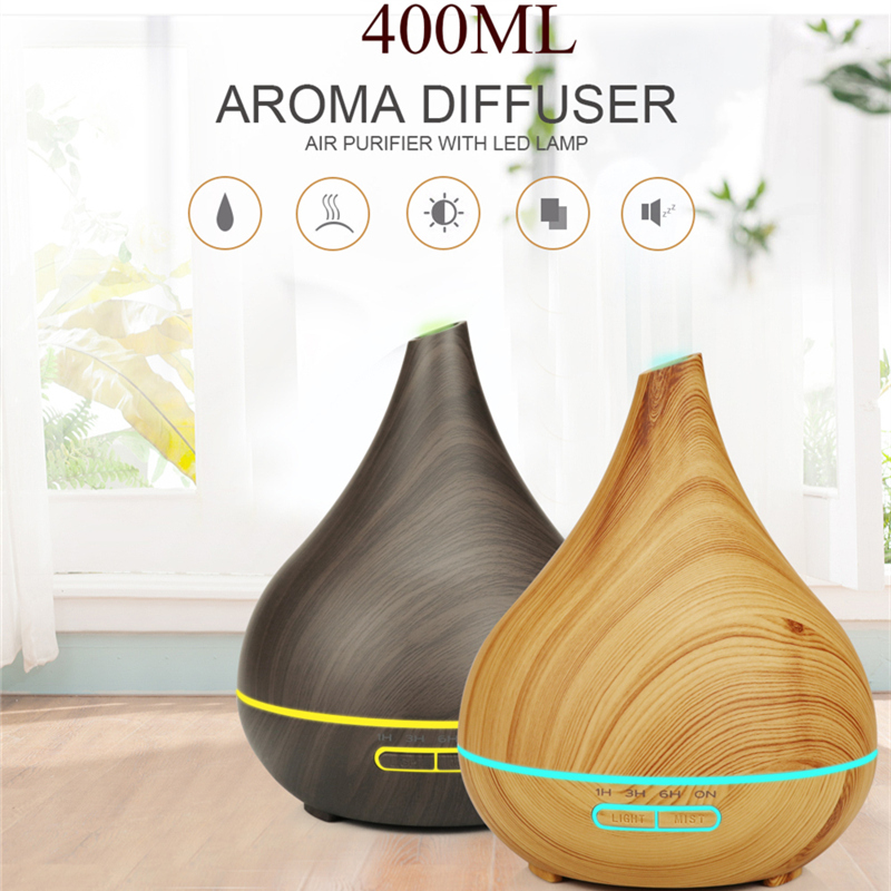 Diffuserlove 400ML Remote Control Air Humidifier Essential Oil Diffuser Humidificador Mist Maker LED Aroma Diffusor Aromatherapy