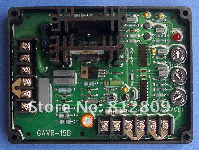 25 Amp Automatic Voltage Regulator GAVR-25A for brush and brushless generator match brush and brushless generator parts pow50a