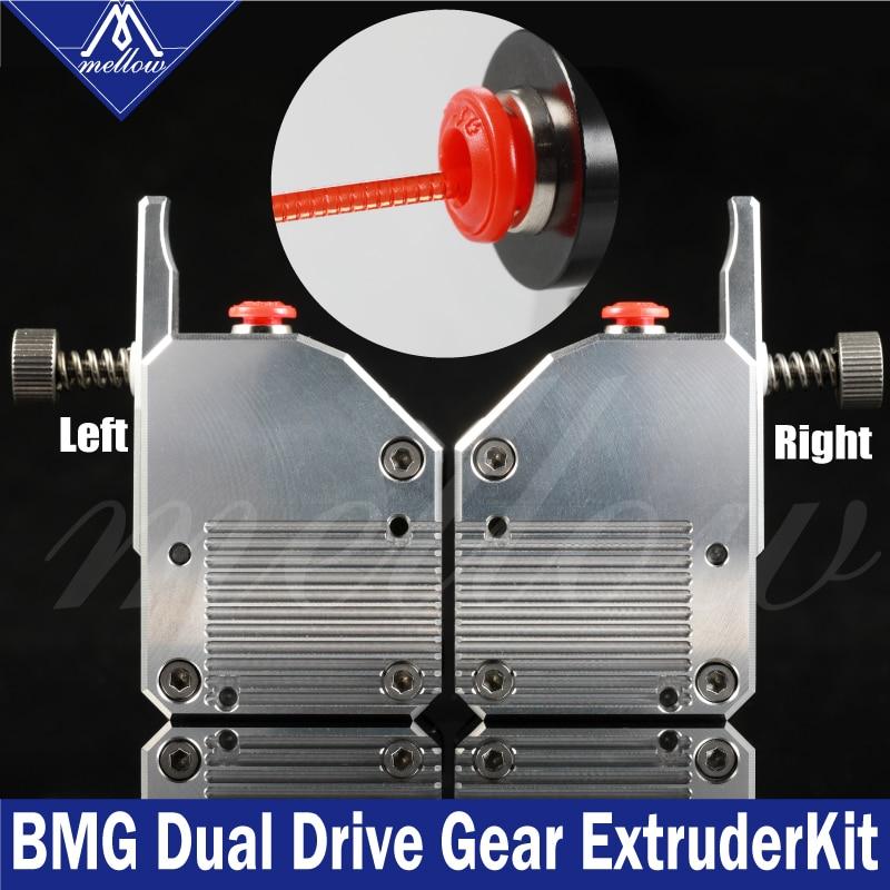 Mellow haute qualité double engrenage tout métal Bmg extrudeuse Bowden double entraînement extrudeuse pour imprimante 3d Mk8 Cr-10 Prusa I3 Mk3 Ender 3
