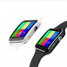 2017 nueva mtk6261d smart watch x6 hd pantalla curvada notificador de sincronización apoyo sim y tarjeta de tf conectividad bluetooth de apple & teléfono android