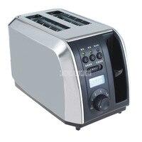 Paslanmaz Çelik Tek/Çift Taraflı ekmek pişirme fırını Makinesi 2 Slot Elektrikli Tost Otomatik Kahvaltı Tost Sandviç Makinesi