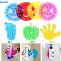 5 unids/lote juguete Nuevo Fuerte Doble Cara de Succión de Palm PVC Ventosa, Double Magic Plastic Lechón Baño de niño juguetes de la palma de la mano