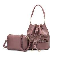 Women Bucket Bag 2017 Fashion Pu Leather Crossbody Shoulder Bags For Girls Lady Famous Brand Desinger